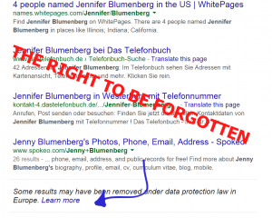 right to be forgotten solicitor